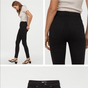 Black high waisted skinny jean